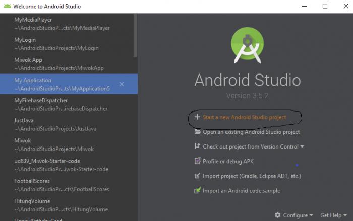 Buka Android Studio